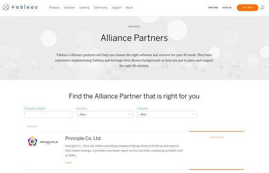 Tableau Certified Partner Principle