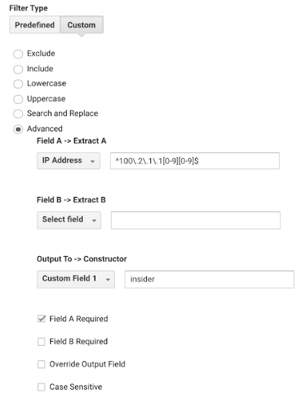 Google Analytics Custom Field Example