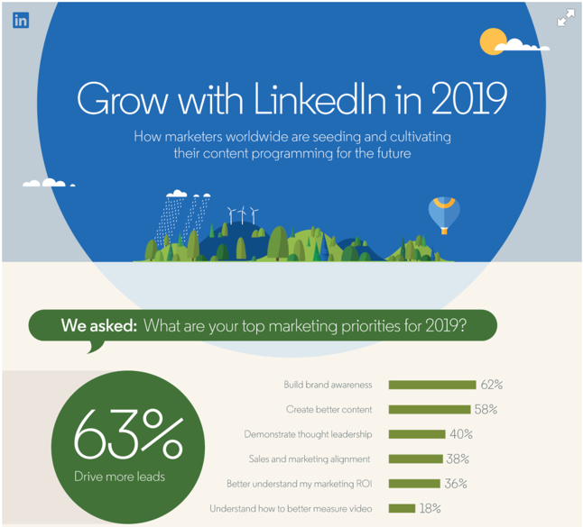How Marketers Are Planning to Grow on LinkedIn in 2019